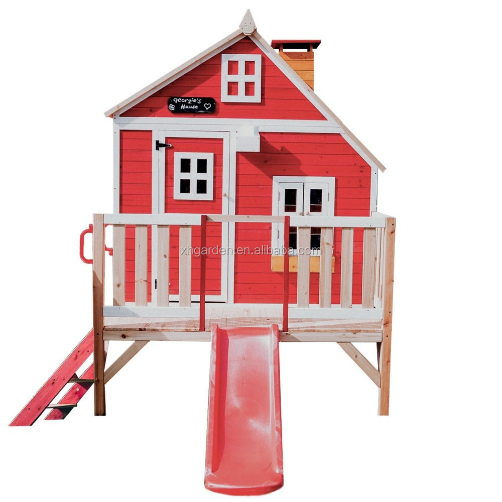 Children Wooden Play House Buy Garden Games Limited Crooked Penthouse Playhouse Pre Painted Wooden Play Housekids Houses For Salekids Mini Houses
