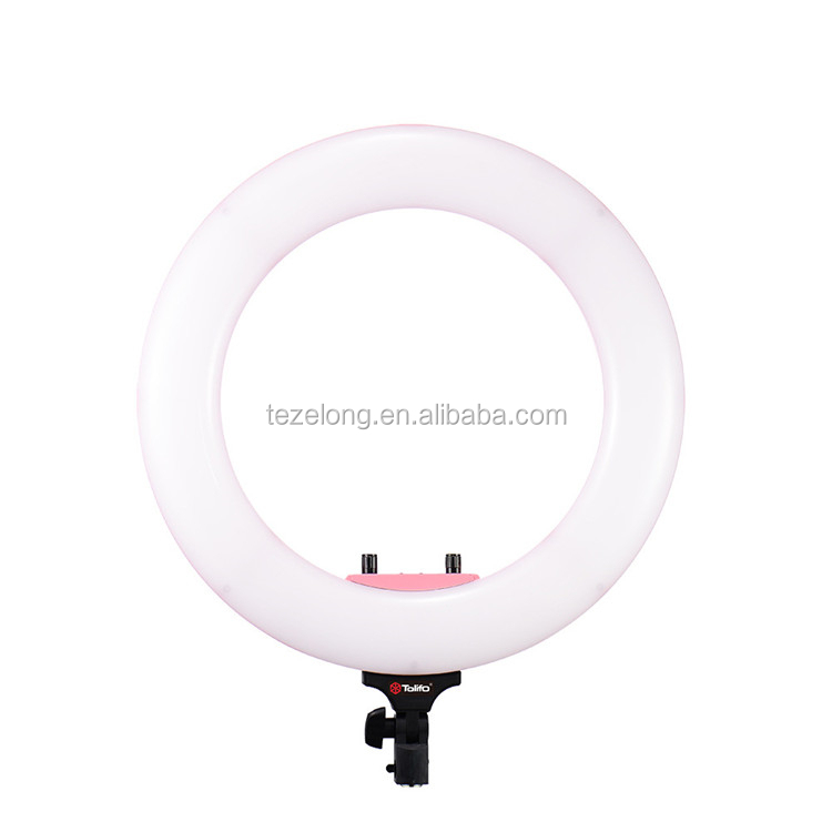 CY-B432 ring light48W 432 LED Bi-Color 3200K-5600K & Dimmable Video LED Ring Light Lamp for Camera Photo Studio Phone Video Live