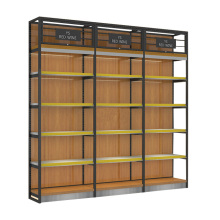 Shop Regale Und Regale Bier Wein Wand Montieren Metall <span class=keywords><strong>Rack</strong></span> Holz Eisen Showroom Display Regal