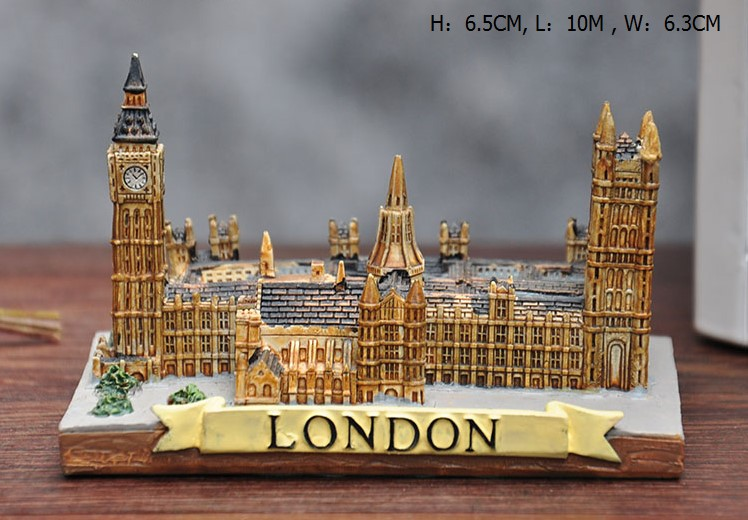 Resin decoration The world famous British European architecture Westminster Abbey house scene Building