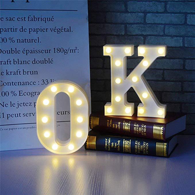 Шатер СИД буквы светильник s Алфавит светильник знак свадьбы бар украшения с батарейным питанием Рождественский Ночной светильник