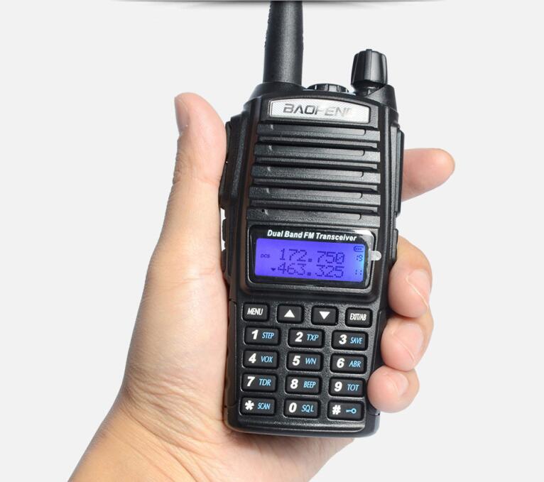 Police Radio Scanner Handheld Digital Two Way Portable VHF Dual-Band Transceiver