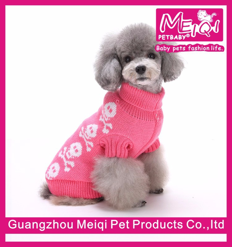 Skull design pet dog sweater dog items outfit for dog pet supplies accessory wholesaler dog
