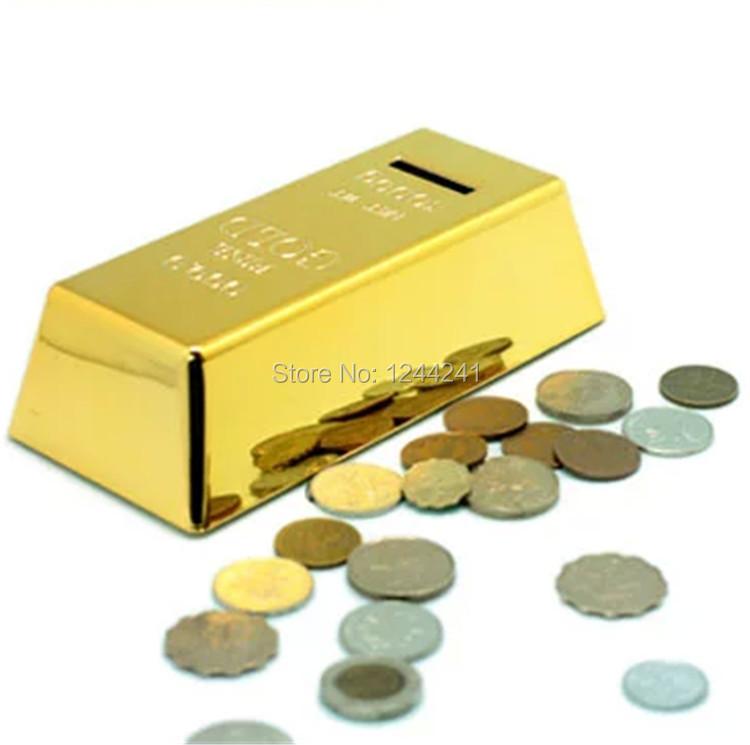Get Quotations Gold Brick Shape Piggy Bank Creative Bullion Cash Box Bricks