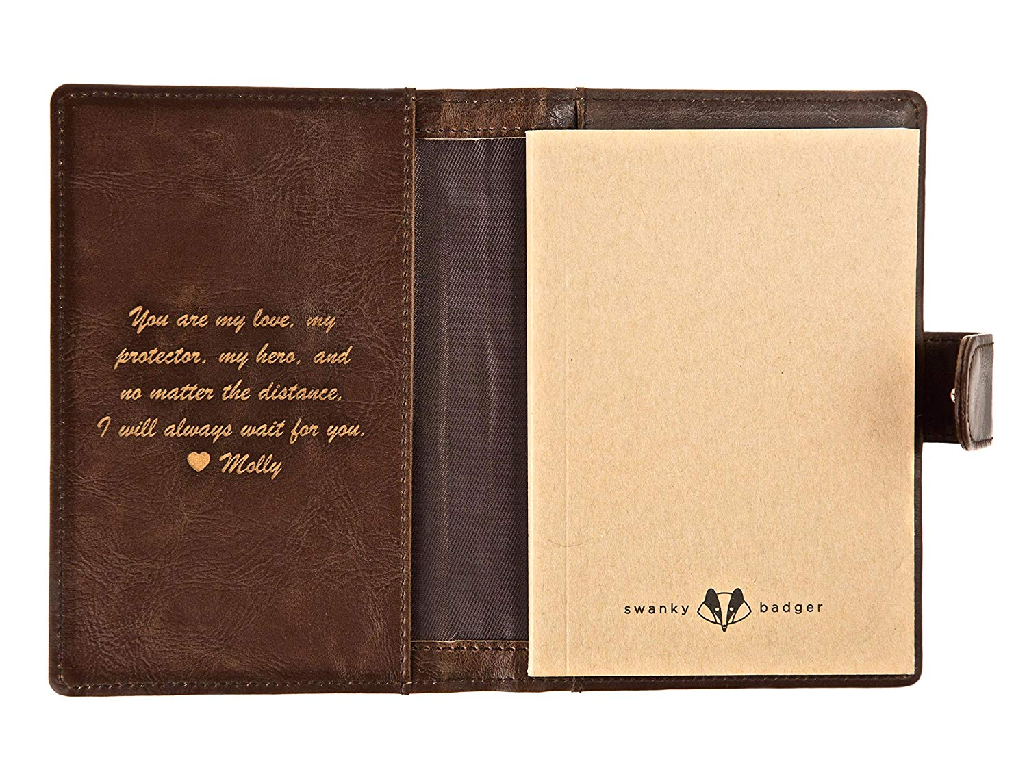 Get Quotations · Personalized Pocket Journal - Leather Journal, The Perfect Mens Gift, Boyfriend Gift, Father's