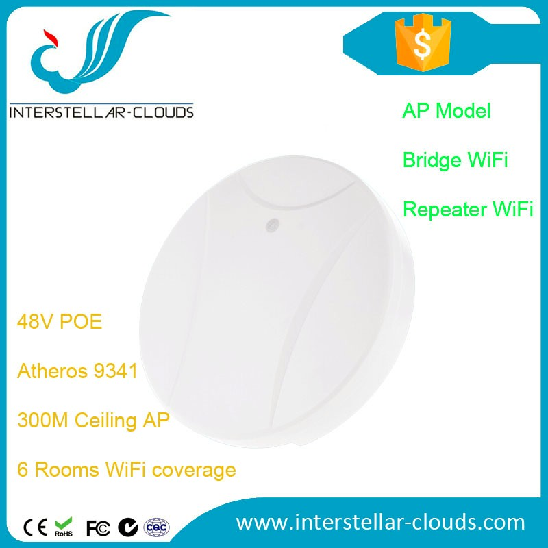 1 km range wifi access point 300M Atheros 9341 high power ceiling ap with POE mimi wi fi ap wifi bridge