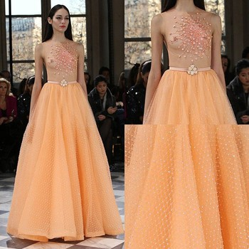 Sexy Tulle Orange Mother Of The Bride Dresses Free Porm Dress