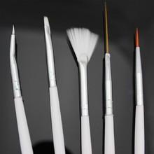 2016 new fashion 15Pcs Nail Art Design Acrylic Dot Painting Tool Pen Polish Brush Set hot
