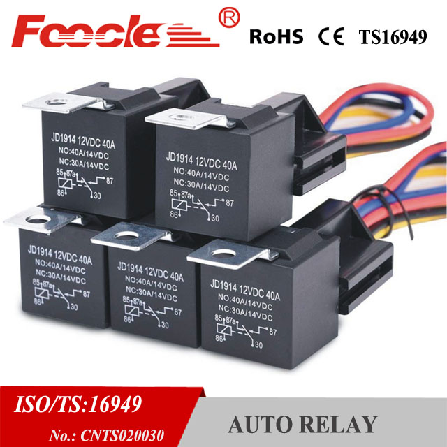 12 V 20a  30a Amp Relay Wiring Harness Socket 5 Pin