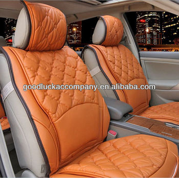 Beautiful Leather Back Support Car Seat Cover