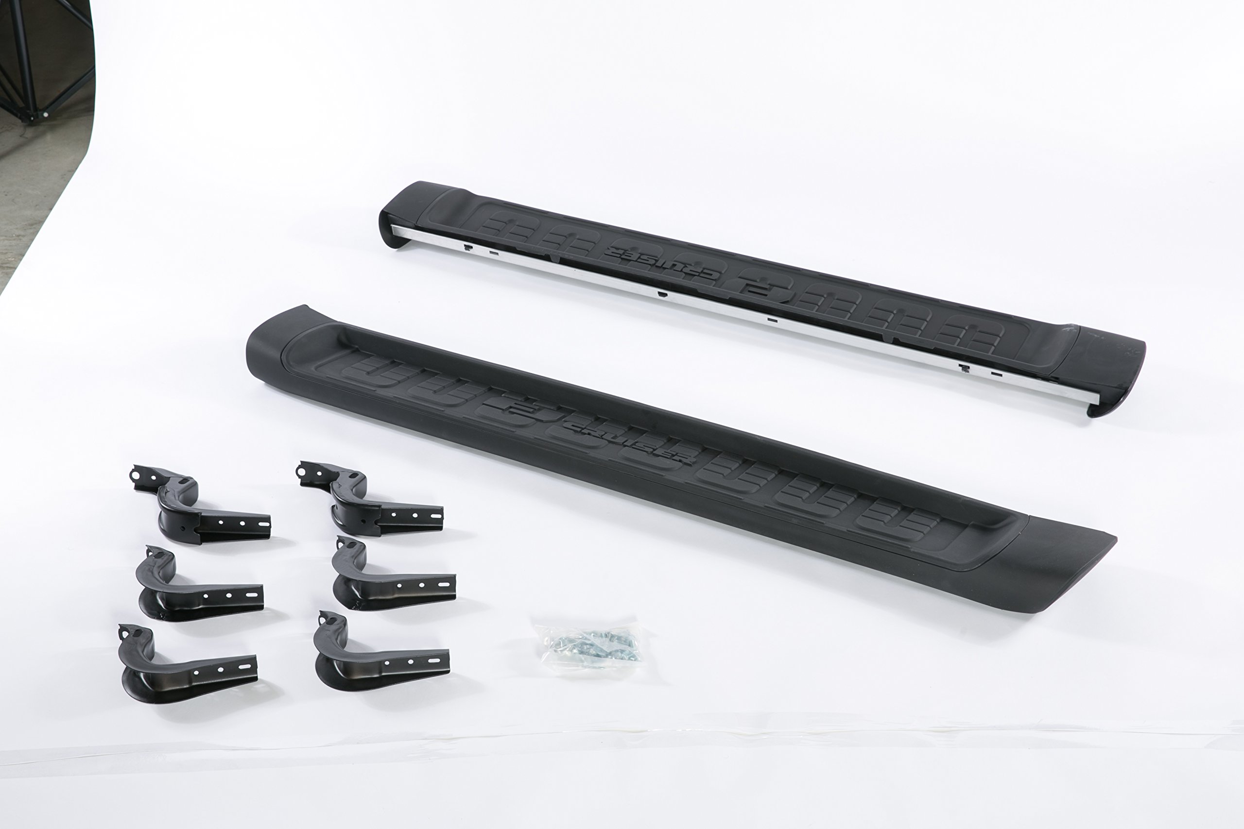 2007-2014 Toyota FJ Cruiser Running Board Side Step Nerf Bar Rail Aluminum Black 2007 2008 2009 2010 2011 2012 2013 2014