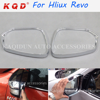 Good quality easy fit chrome and black accessories mirror rain guard for Hilux revo