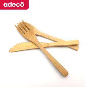 Reusable Bamboo Travel Cutlery Set,Disposable Wooden Spoon Fork Knife