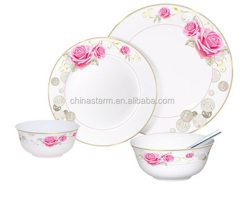 Competitve elegance flower decal printing porcelain dinnerware setsbeautiful floral design bone china tableware  sc 1 st  Alibaba & Competitve Elegance Flower Decal Printing Porcelain Dinnerware Sets ...
