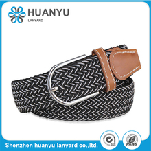Unisex Mens Womens Stretch Braided Elastic Durable Woven Belt
