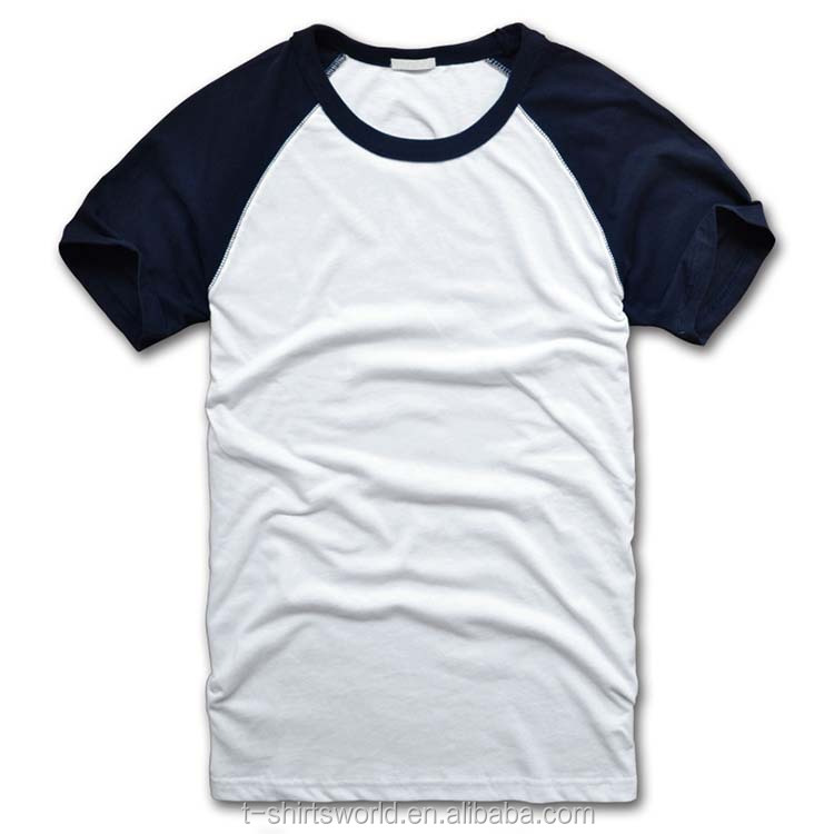 Men's New Style Boutique Cotton Plain Raglan Baseball Jersey T ...