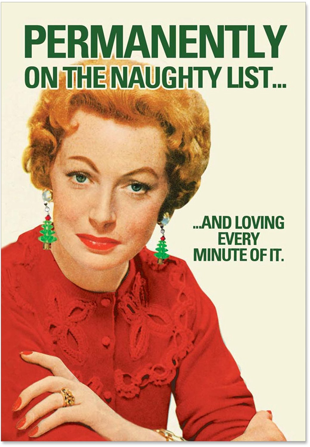 Cheap funny photo christmas card find funny photo christmas card get quotations b5987 box set of 12 box of permanent naughty list christmas funny christmas greeting card m4hsunfo