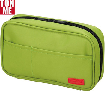 High Quality Yellow Green Pen Case With 3 Storage Pockets