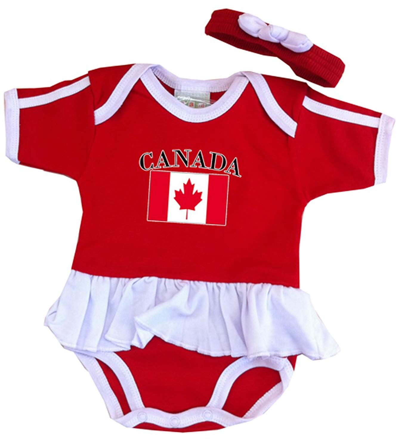 PAM GM Canada 3 piece Bodysuit set with hat and booties