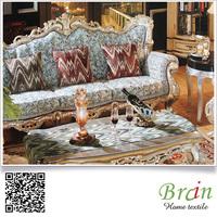 Custom Design Yarn Dyed Jacquard Print Polyester Square Sofa Cushion