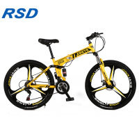 2019 popular cycling mountain bike /portable aluminum frame 26 inches mountain bike /21 speed foldable mountain bike cycle