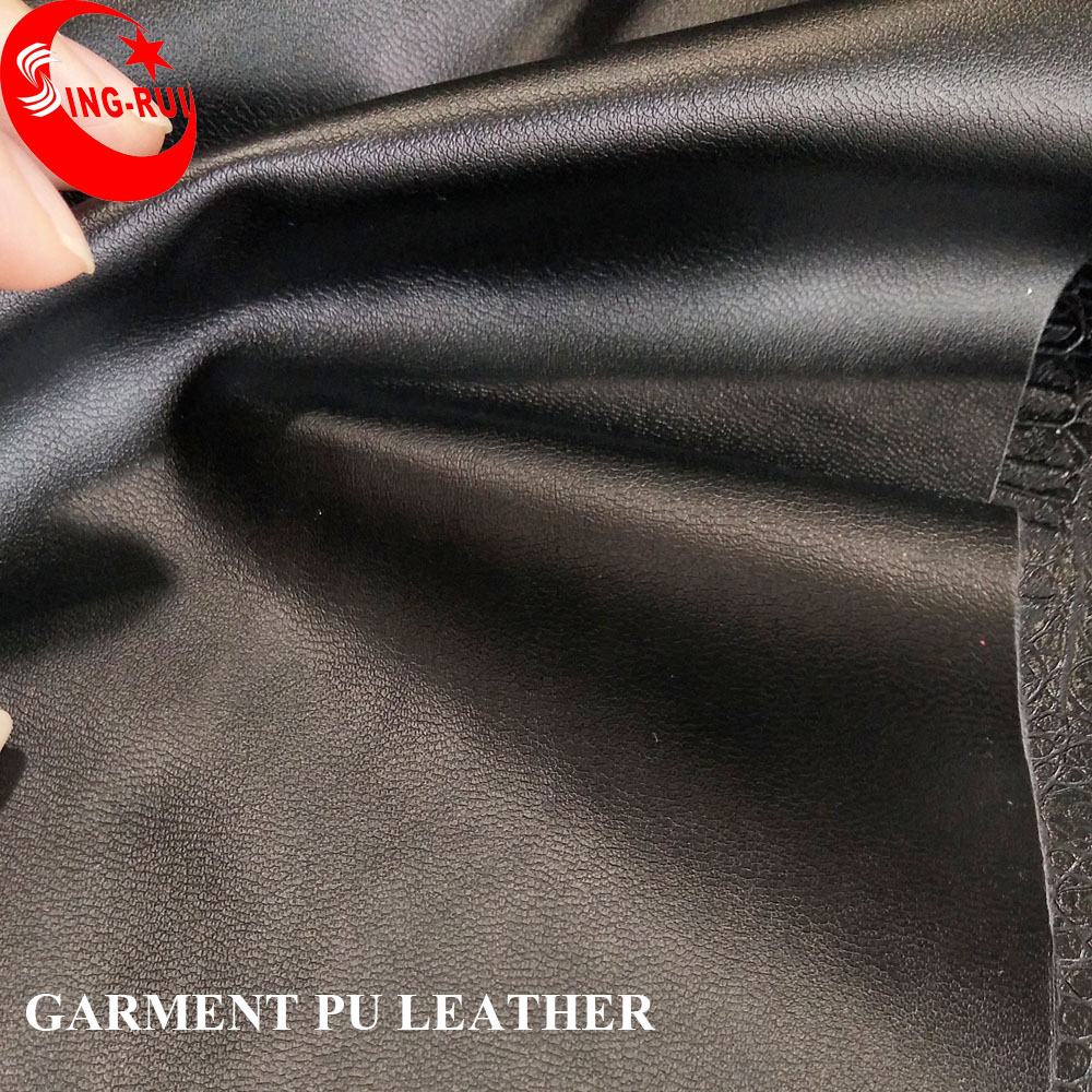 54/55'' Width and Knitted/Suede Backing Technics Comfortable PU Leather PU Material for Garment