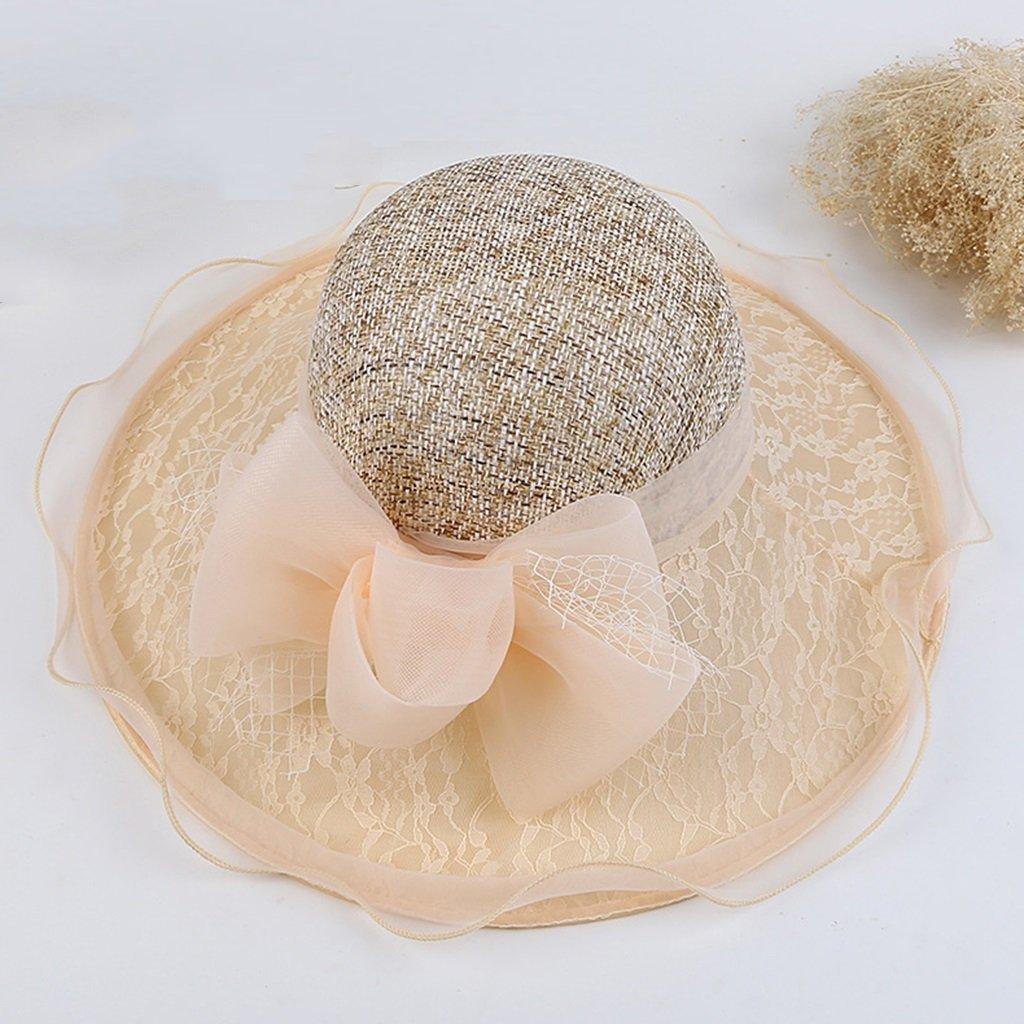 Get Quotations Zuoanchen Sun Hat Women Brim Wedding Dress Church Hats Beach Organza Summer Fashion