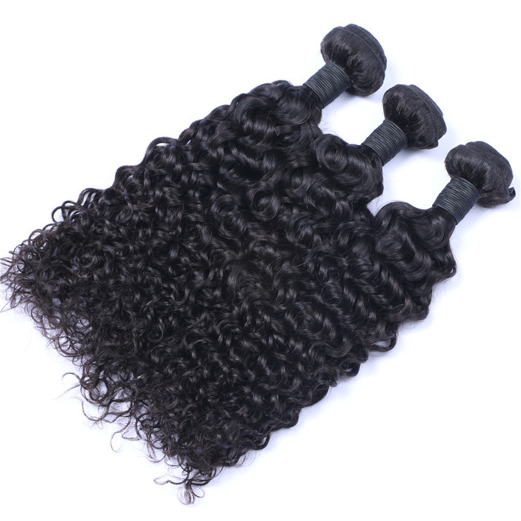 High Quality Human Hair Extensions Natural Black Kinky Curly Gray