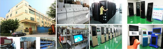Large size LCD displayer with  touch screen digital signage display board