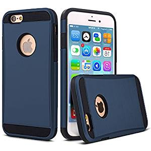 "iPhone 6 6S Heavy Duty Case (4.7"") – AYIPE All-around Guard Ultra-Slim Shockproof Heavy Duty Case Dual Protective iPhone Case- Navy Blue"