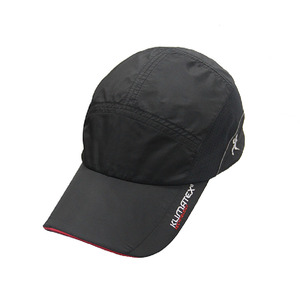 High quality custom sports cap dry fit running hat black micro fibre hats