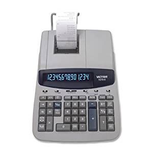 """Victor Heavy-Duty 14-Digit Print Calculator-14-Digit Calculator,2-Clr Printing,8-3/4""""x12-1/2""""x2-3/4"""",GY"""