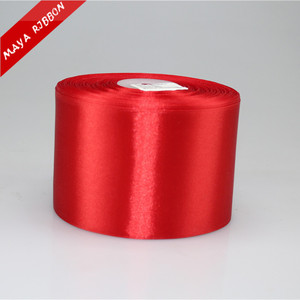 4 inch wide large size satin ribbon