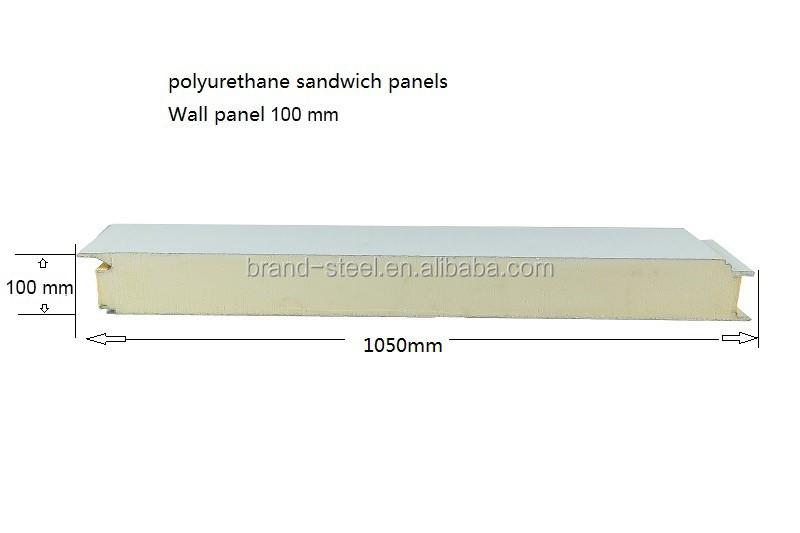 Insulated Wall Polyurethane Foam Sandwich Panel Thailand