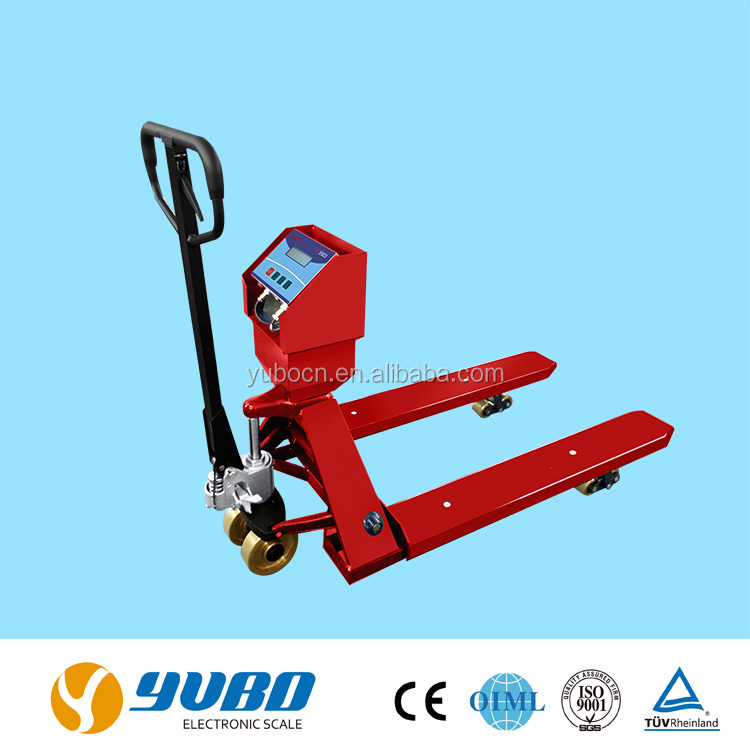 1.5 ton / 2 ton hand pallet truck explosion-proof platform floor weighing scales