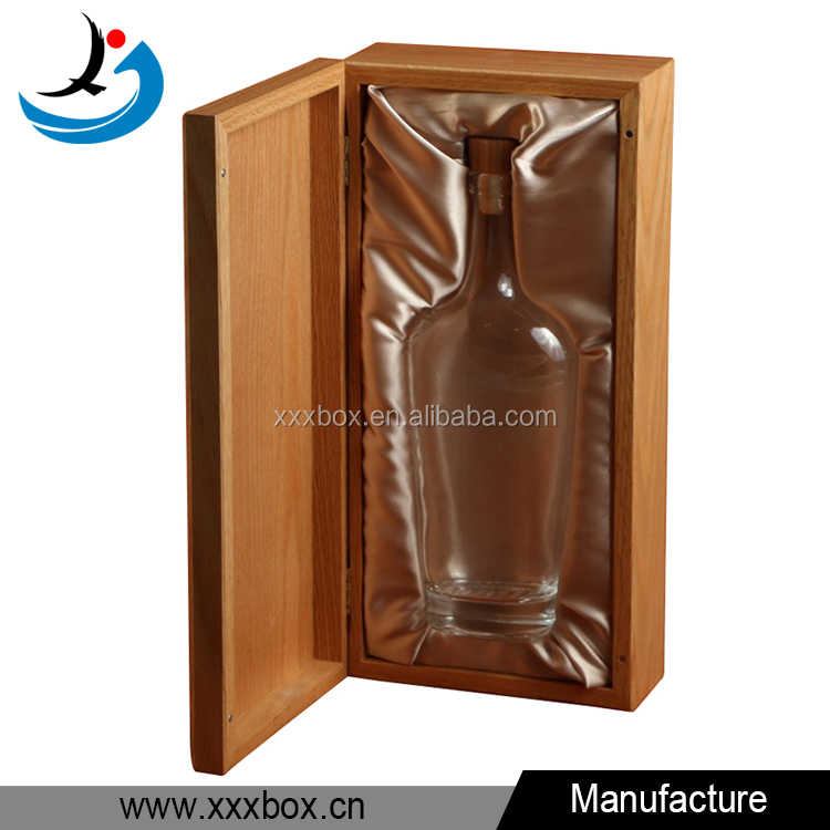 high quality custom solid wood spirit wine packaging box