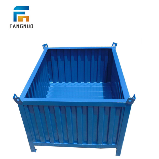 Good Quality Foldable Steel Pallet Storage Collapsible Metal Box Bin