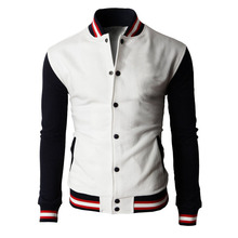 Free Shipping Top Quality Fashion Mens Custom Baseball Plain Varsity Jackets Wholesale M-2XL