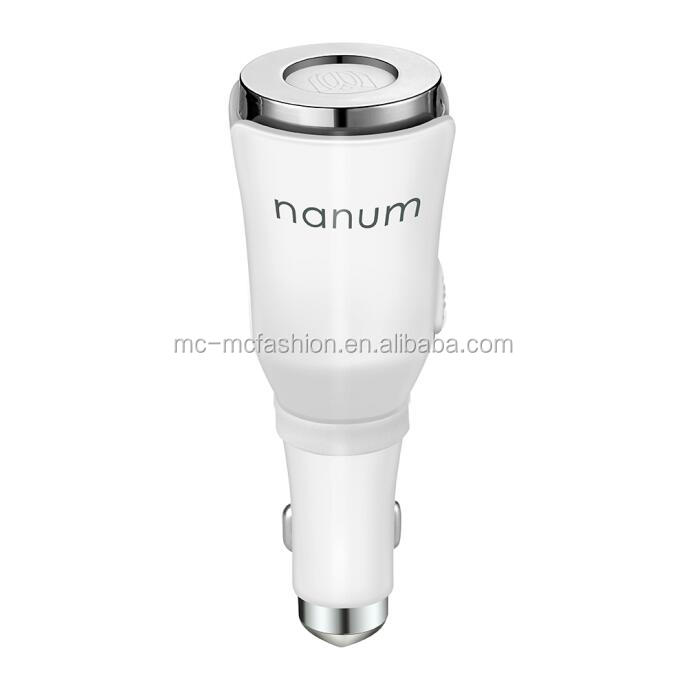 2018 small usb output nanum humidifier aromatherapy essential oil car air diffuser with safety hammer for charge mobile phone