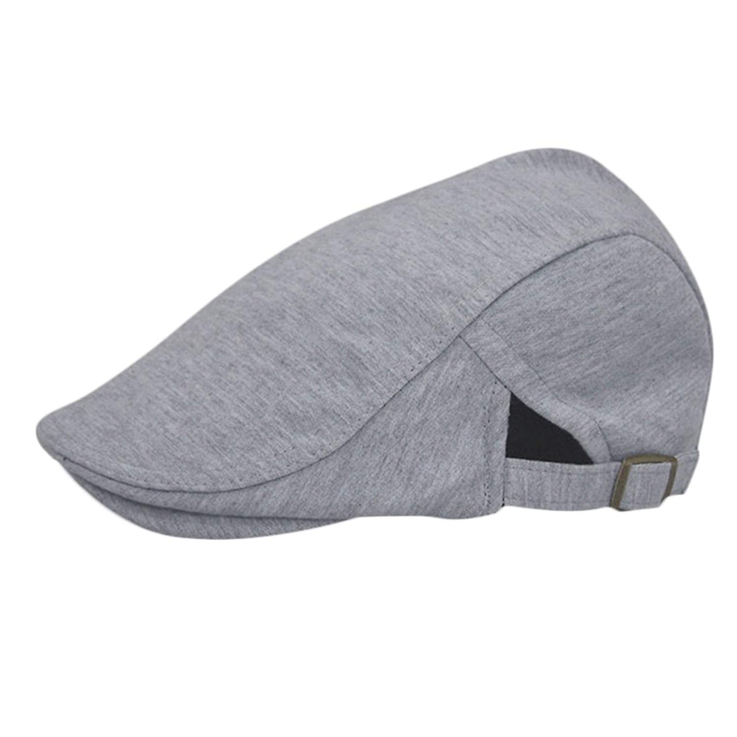 141fc61d7f84a Get Quotations · Voberry Mens Retro Beret Cap newsboy IVY Cabbie Driving  Flat Hat Cap