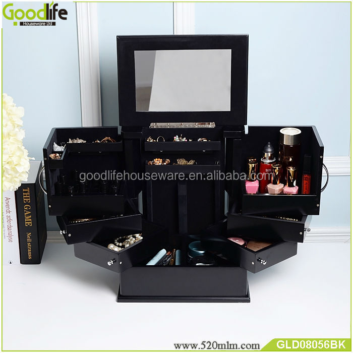 Good quality table top makeup case with drawers from goodlife