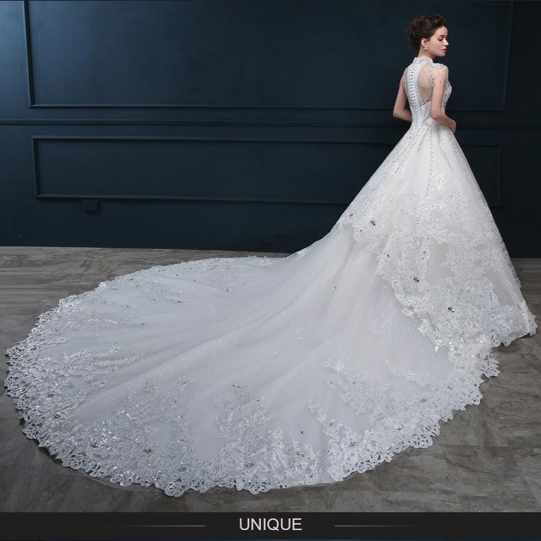 Appliqued Ball Gown 2018 Long Floor Length Custom Made Formal Bridal ...