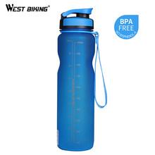 WEST BIKING 1000 мл не содержит Бисфенол А, бутылки для велосипеда, бутылки для воды, бутылки для велосипеда, фильтр, портативный чайник, герметична...(Китай)