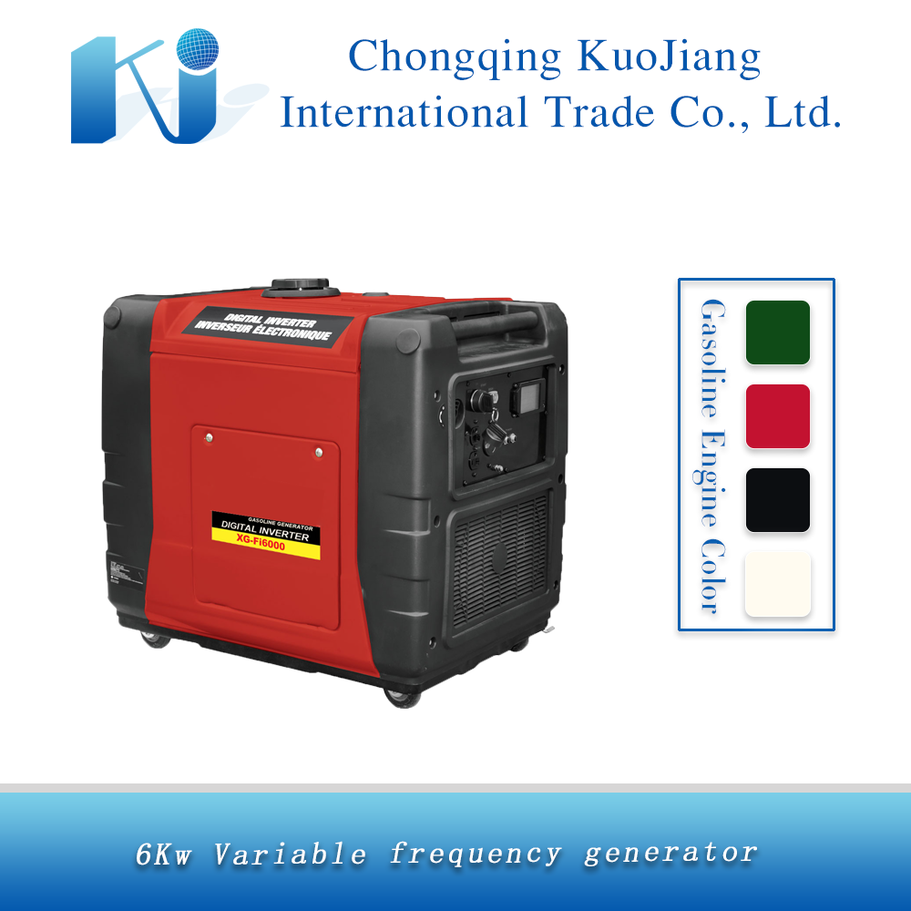 SF6000 6kw/DC/Electric start/silent gasoline inverter generator