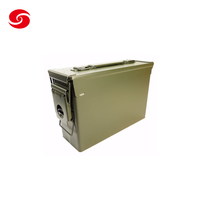 New Army Green Metal Durable Ammo Boxes Bullet Can for Military S Size