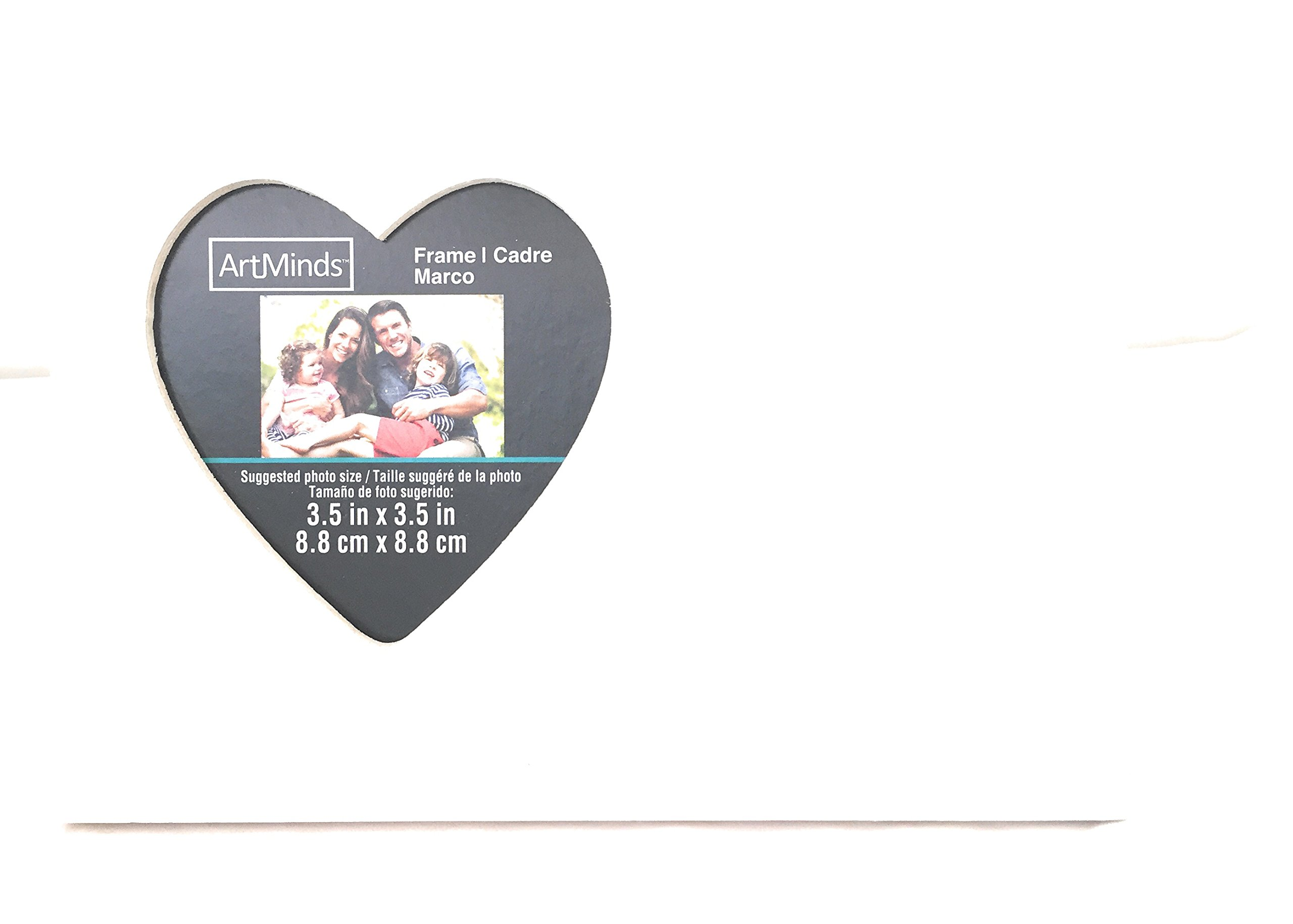 Unfinished Solid Wood Photo Picture Frames Heart Shaped 6.5 x8.5Inch , Ready to Paint for DIY Projects, Write In That Special Message. Set 0f 2