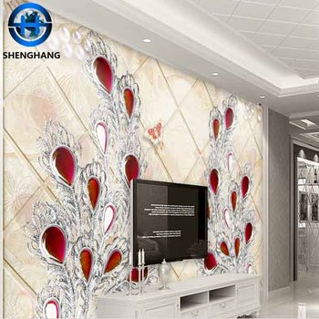 Wholesale Price China Made Pvc Wallpapers 3d Effect Diamond Wood Grain Wallpaper