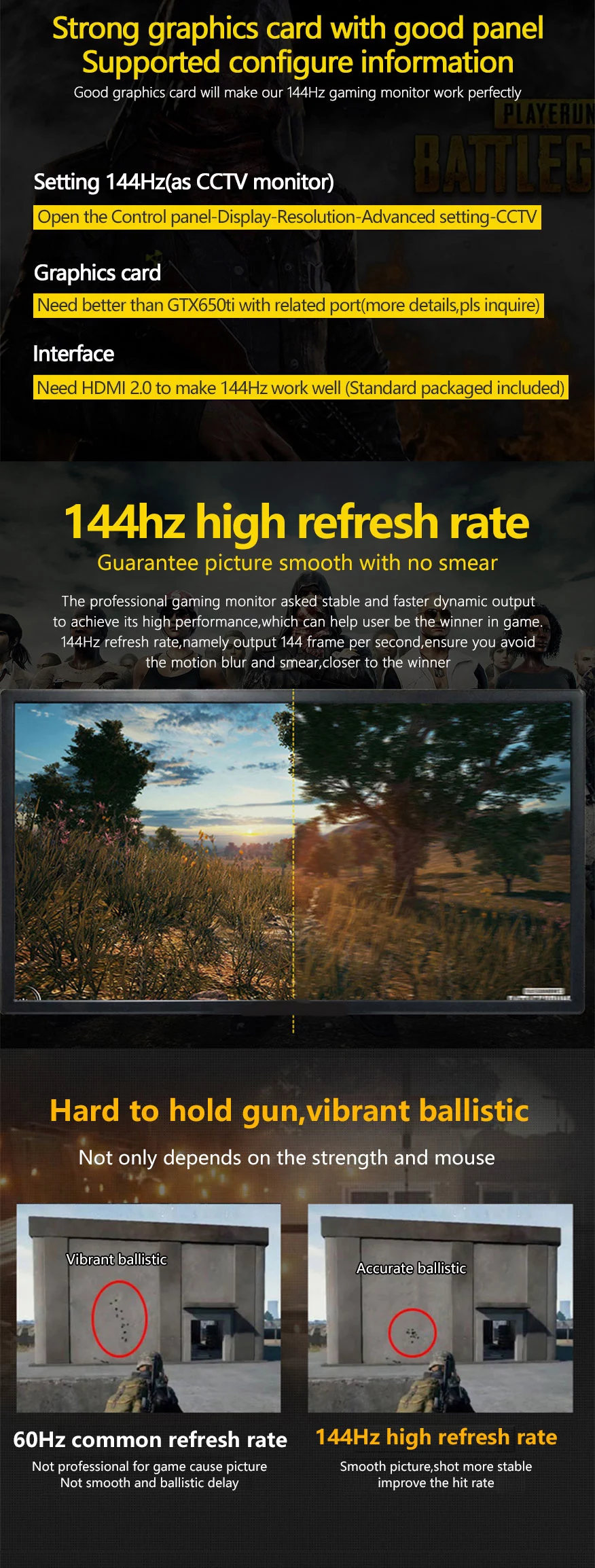 24 27 inch ultra-wide screen 144Hz curved led computer gaming monitor PC
