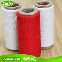 Cnlucky factory recycled dyed cotton yarn for carpet