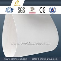 pvc flexible plastic sheet 10mm glossy surface heat resisting pvc plate for mgo board conveyer equipment